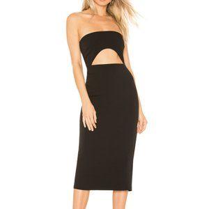 Lovers + Friends Denise Midi Dress Black